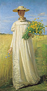 Michael Ancher - Anna Ancher returning from the field - Google Art Project.jpg