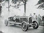 Michel Doré sur Panhard 8 cylindres en août 1930 au 'Meeting des records' du M.C.F. à Arpajon (RM de catégorie sur le km et le mille lancés, à plus de 222 kmh).jpg
