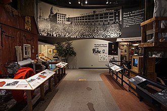 Library of Michigan - Michigan in the 20th Century exhibit in the Michigan History Museum