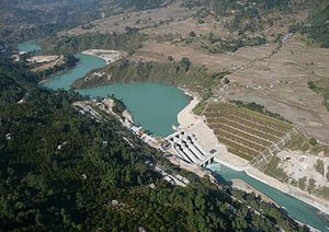 Energy in Nepal - Middle Marshyandi Hydroelectricity Dam, Udipur