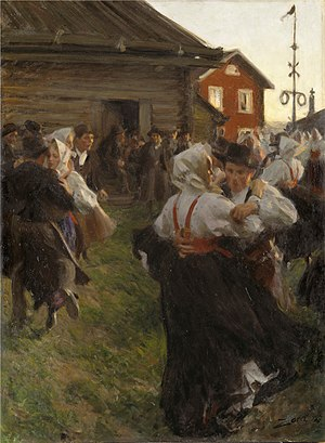 Mora, Sweden - Midsummer Dance by Anders Zorn, 1897