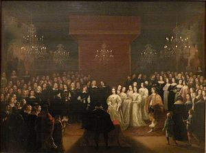 Frederick William, Elector of Brandenburg - Painting of his 1646 wedding ceremony by Johannes Mytens.
