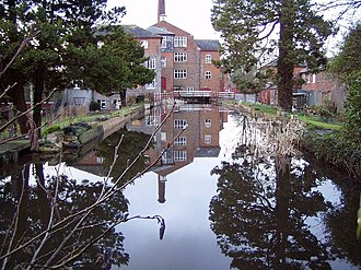 Uffculme - Mill pond at the Coldharbour Mill