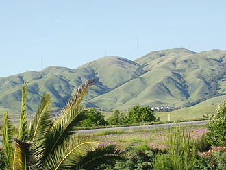 Milpitas, California - Monument Peak is the most visible landmark in Milpitas and has long been a symbol of Milpitas. (Click on the image for a detailed description)
