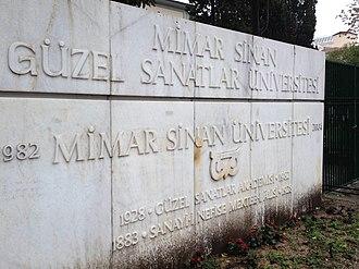 Mimar Sinan Fine Arts University - Image: Mimar Sinan Fine Arts University Entrance