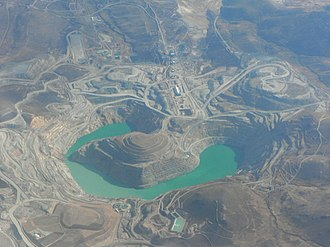 Espinar Province - Tintaya copper mine as seen from the air