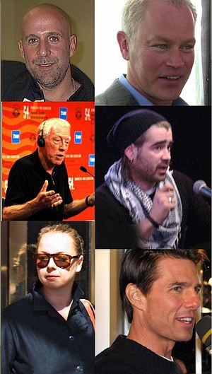 Minority Report (film) - Members of the cast of Minority Report. Clockwise from top left; Stormare, McDonough, Farrell, Cruise, Morton, and Von Sydow
