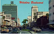 Wilshire Boulevard Through Miracle Mile In The 1960s