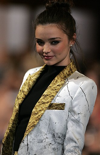 Wardrobe stylist - Supermodel Miranda Kerr, in Sydney in 2013, has a team of professionals working on her overall appearance, including hair and makeup experts, as well as a wardrobe stylist to select apparel for public appearances.