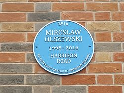 Miroslaw olszewski plaque