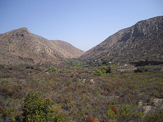 Mission Trails Regional Park open space preserve within the city of San Diego, California