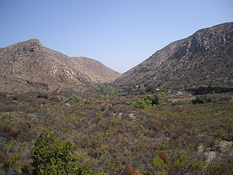 Mission Trails Regional Park - View of the park and gorge from the visitors center