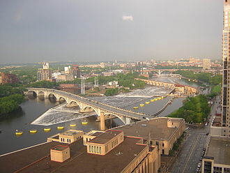Climate of Minneapolis–Saint Paul - St. Anthony Falls after a spring storm