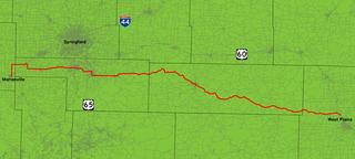 Missouri Route 14 Highway in Missouri