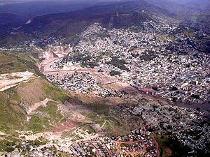 Effects of Hurricane Mitch in Honduras - Landslide in Tegucigalpa from Mitch