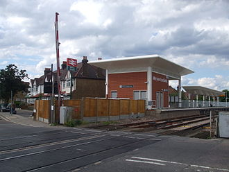 Mitcham Eastfields railway station - Station building, to the north of the level crossing on Eastfields Road (platforms staggered)