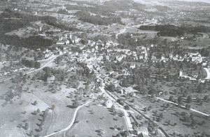 Hinwil - Aerial photography by Walter Mittelholzer (1928)