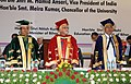 Mohd. Hamid Ansari, the Speaker, Lok Sabha, Smt. Meira Kumar and the Chief Minister of Bihar, Shri Nitish Kumar at the first convocation of the Central University of Bihar, at Patna on September 26, 2013.jpg