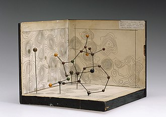 Dorothy Hodgkin - Molecular model of penicillin by Dorothy Crowfoot Hodgkin, c. 1945