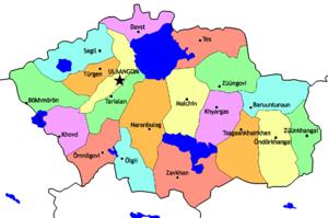 Uvs Province - Sums of Uvs