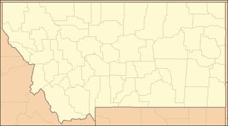 Little Blackfoot River - Image: Montana Locator Map
