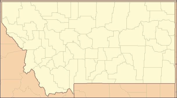 Montana Locator Map