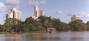 Córdoba Department - View of Montería from the Sinu river.