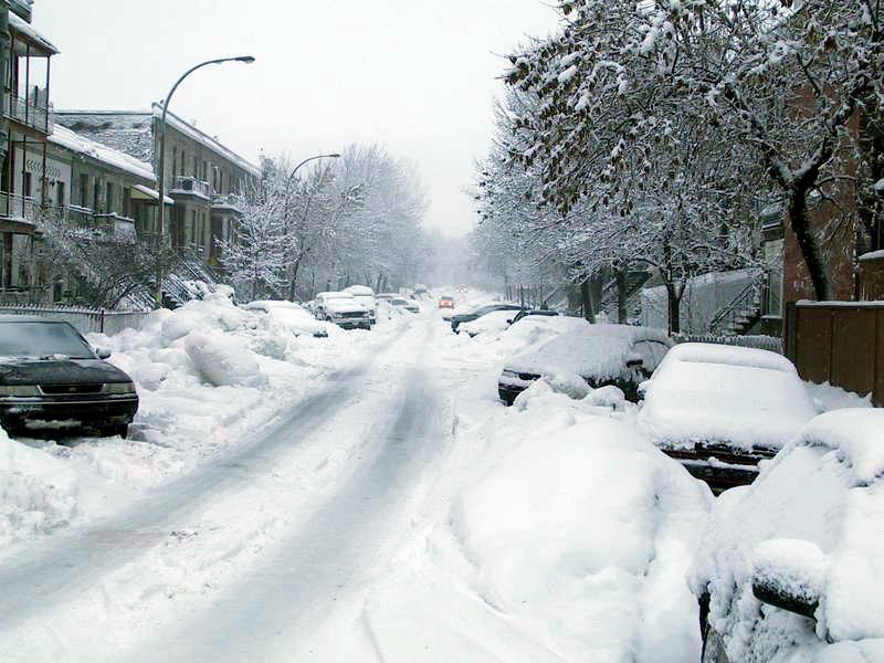 Montreal - Plateau, day of snow - 200312