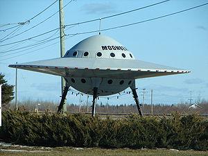 Novelty UFO in Moonbeam, Ontario, Canada