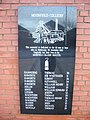 Moorfield Colliery Memorial, Centre plaque - geograph.org.uk - 660485.jpg