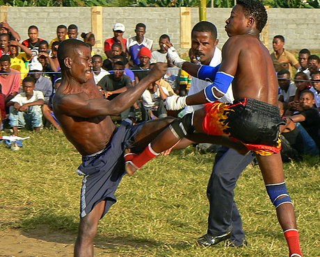 Moraingy is a traditional martial art of Madagascar. Moraingy fighting Madagascar sport.jpg