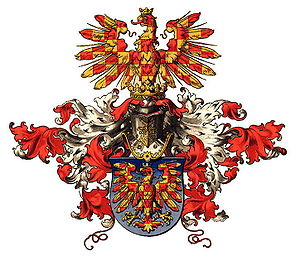 Margraviate of Moravia - Unnoficial coat of arms of Moravia by Hugo Gerard Ströhl