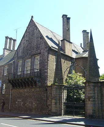 Moray House on the Royal Mile - Cromwell's residence in Edinburgh when he implored the Assembly of the Kirk to stop supporting Charles II Moray House in the Canongate.jpg