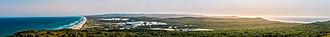 Moreton Island - Panorama of the island viewed from the Moreton Island lighthouse
