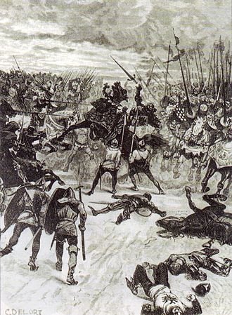 John of Bohemia - Death of John of Bohemia at the Battle of Crécy