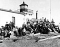 Mountaineers Club outing at West Point Lighthouse, February 17, 1907 (SEATTLE 1469).jpg