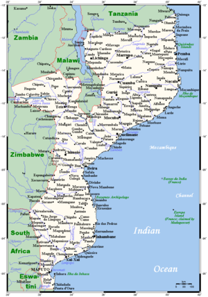 List of cities in Mozambique Wikipedia