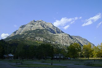 Mount Crandell - Mouint Crandell seen from Waterton Town Campground