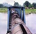 Murakeresztúr, Zala megye. A Mura folyó vasúti hídja. Fortepan 99223.jpg