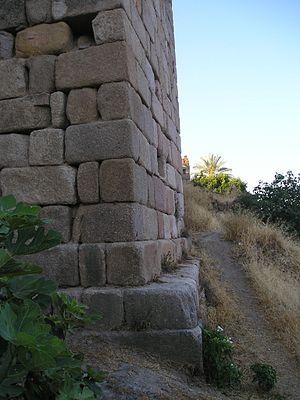 Siege of Coria (1138) - Image: Murallacoriadet
