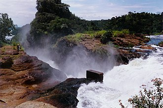 Murchison Falls - Image: Murchison Falls from above