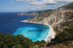 凯法利尼亚岛: Myrtos Beach, Kefalonia