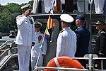 N.Y. Naval Militia Capt. Timothy Zakriski salutes Maj. Gen. Anthony German, the Adjunct General of the N.Y. National Guard.jpg