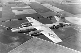 Un RB-45C dell'USAF, in volo.