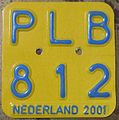NETHERLANDS 2001 -MOPED-SCOOTER PLATE - Flickr - woody1778a.jpg