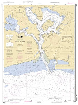 Ford Island - Image: NOAA Pearl Harbor Approach Map
