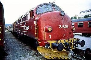 NSB Di 3 - Di 3.626 at Bodø Station in 1991