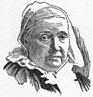 Portrait drawing of Julia Ward Howe.