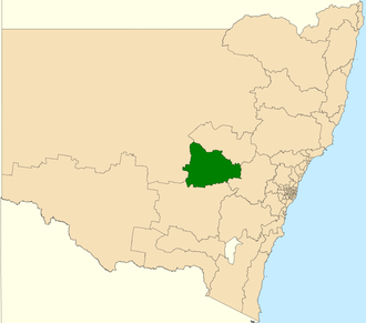 Electoral district of Orange - Location in New South Wales