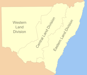 Western Division (New South Wales) - The three land divisions